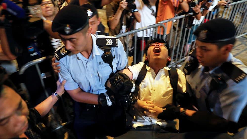 Joshua Wong Arrest in Hong Kong protest riots